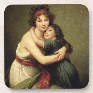 Madame Vigee-Lebrun and her Daughter Beverage Coasters