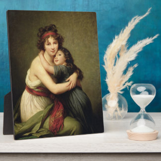 Madame Vigee-Lebrun and her Daughter Plaque