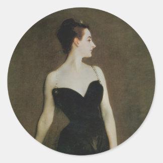 Madame X by John Singer Sargent Classic Round Sticker