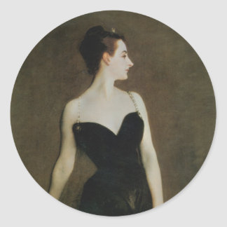 Madame X by John Singer Sargent Round Sticker