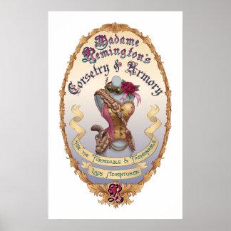 MadameRemington s Corsetry Armory Poster