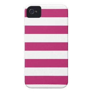 Madder Carmine Stripes Pattern iPhone 4/4s Case