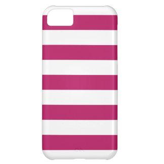 Madder Carmine Stripes Pattern iPhone 5 Case