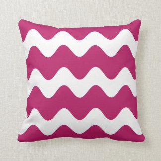 Madder Carmine Wave Pattern Throw Pillow Throw Cushions