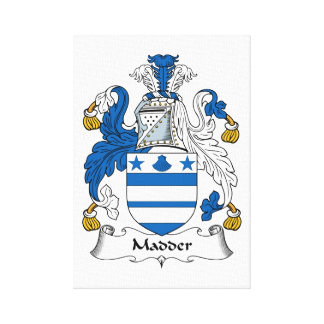 Madder Family Crest Gallery Wrap Canvas