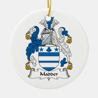 Madder Family Crest Christmas Ornament