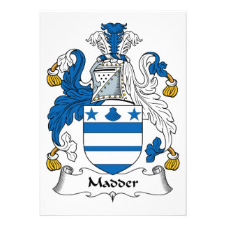 Madder Family Crest Personalized Invites