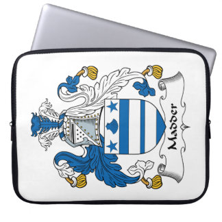Madder Family Crest Computer Sleeve