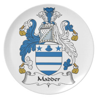 Madder Family Crest Party Plates
