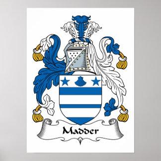 Madder Family Crest Poster