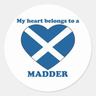 Madder Round Stickers