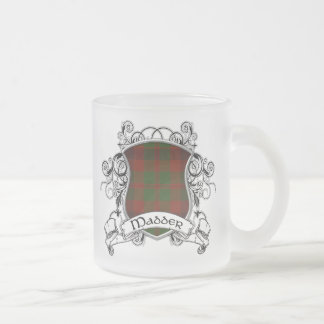 Madder Tartan Shield Frosted Glass Mug