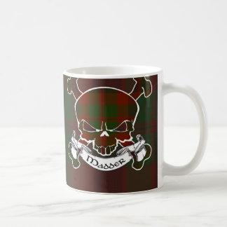 Madder Tartan Skull Basic White Mug