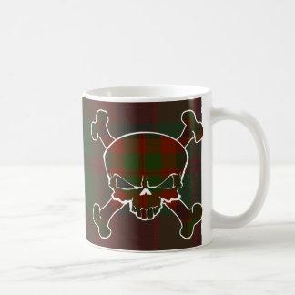 Madder Tartan Skull No Banner Basic White Mug