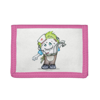 MADDI ALIEN CARTOON TriFold Nylon Wallet PINK