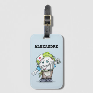 MADDI ALIEN MONSTER Luggage Tag with Business Card