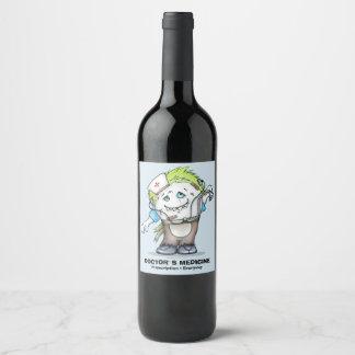 MADDI ALIEN MONSTER  Wine (or Champagne) Bottle Wine Label