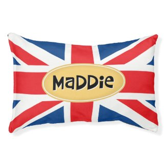 Maddie Personalised British Pet Bed