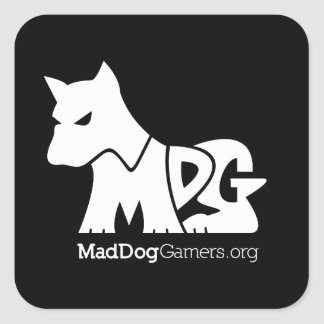MadDogGamers Official Stickers (White Logo)