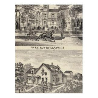 Maddox, Knox residences Postcard