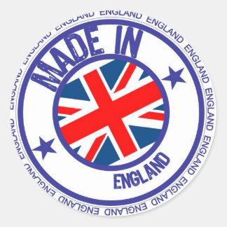 made england round sticker