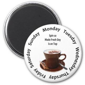 Made Fresh Coffee Tracker 6 Cm Round Magnet