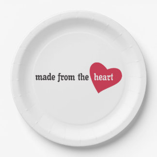 Made from the Heart Food Label Paper Plate
