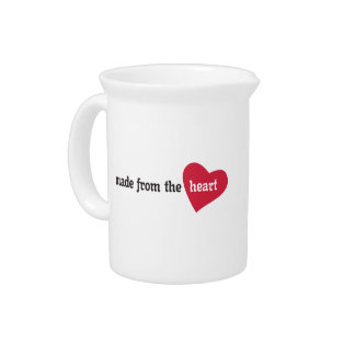 Made from the Heart Food Label Pitcher