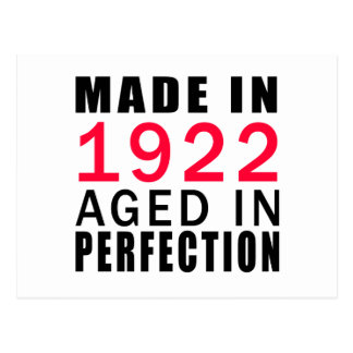 Made In 1922 Aged In Perfection Postcard