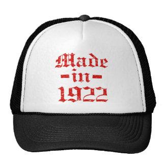 Made in 1922 designs cap