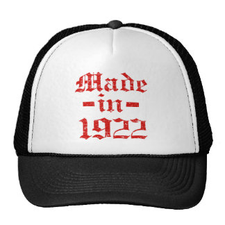 Made in 1922 designs hats