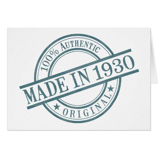 Made in 1930 Circular Stamp Style Logo Greeting