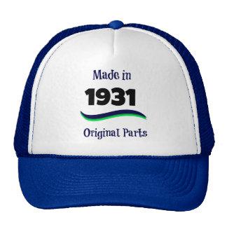 Made in 1931, Original Parts Cap