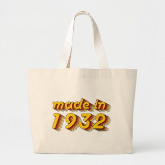 Made in 1932 Yellow Red Tote Bag