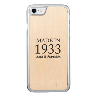 Made In 1933 Carved iPhone 7 Case