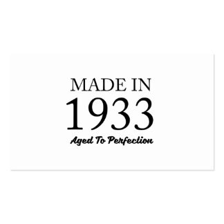 Made In 1933 Pack Of Standard Business Cards