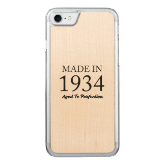 Made In 1934 Carved iPhone 7 Case