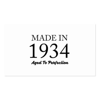 Made In 1934 Pack Of Standard Business Cards