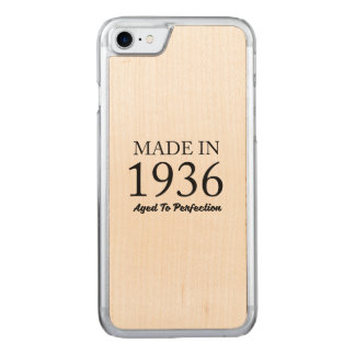Made In 1936 Carved iPhone 8/7 Case