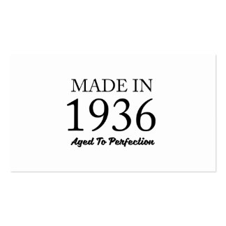 Made In 1936 Pack Of Standard Business Cards