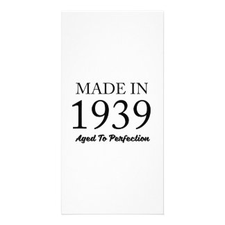 Made In 1939 Photo Card Template