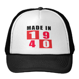 Made In 1940 Birthday Designs Cap