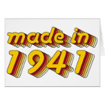 Made in 1941 (Yellow&Red) Greeting Card