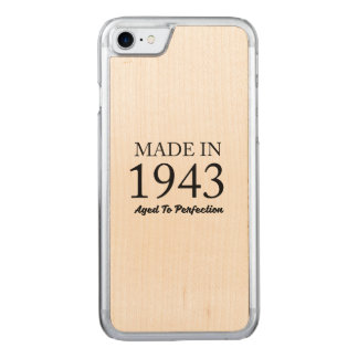 Made In 1943 Carved iPhone 7 Case