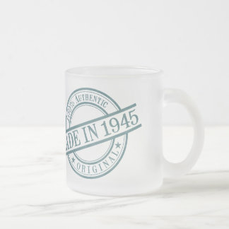 Made in 1945 frosted glass coffee mug
