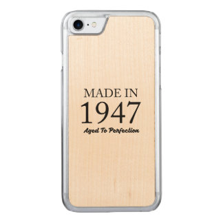 Made In 1947 Carved iPhone 7 Case