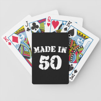 Made In 1950 Bicycle Playing Cards