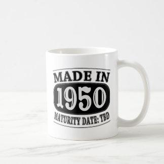 Made in 1950 - Maturity Date TDB Basic White Mug