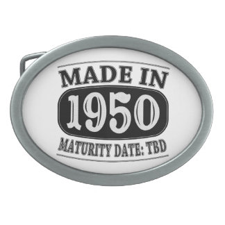 Made in 1950 - Maturity Date TDB Oval Belt Buckles
