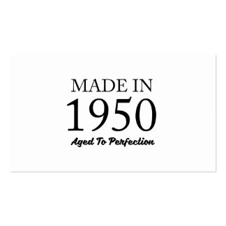 Made In 1950 Pack Of Standard Business Cards